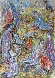 Жертвоприношение. Oil on paper. 66х46 сm. 1985