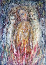 Троица. Oil on paper.66х46 сm. 1985