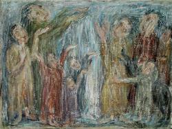 Святой дождь. Oil on canvas. 73х103 сm. 1986