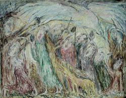 Der Vögel Jerusalem. Leinwand, Öil. 79х103 сm. 1986