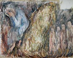 Гора Кварантана. Oil on canvas. 68х87 сm. 1986
