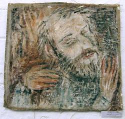 Портрет Николая Эстиса. Холст, масло. 52х59 см. 1986