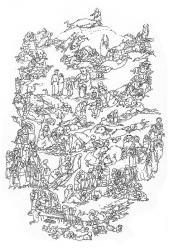 Träume. Papier, Tusche, Feder. 42x30 cm. 1995