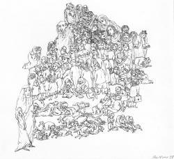Моя семья, бум., тушь, перо, 32х24, 1997