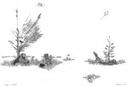 Шум и ярость, бум., тушь, перо, 23х35,  1980