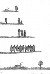 Без названия, бум., тушь, перо, 23х35,  1980