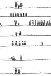 Родословная, бум., тушь, перо, 35х23, 1980