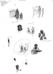 Воспоминания, л.2, бум., тушь, перо, 36х24,  1978 (?)