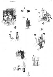 Воспоминания, л.1, бум., тушь, перо, 36х24,  1978 (?)