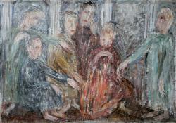 Торгующие в храме. Холст, масло. 73х100. 1986