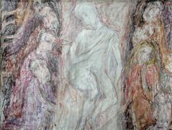 Плащаница. Холст, масло. 80х103 см. 1986
