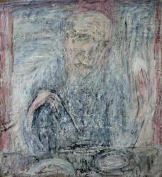 Без названия (Л.Рабичев). Холст, масло. 74х70 см. 1986
