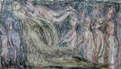 Ирод, пожирающий младенцев. Холст, масло. 58х105 см. 1985