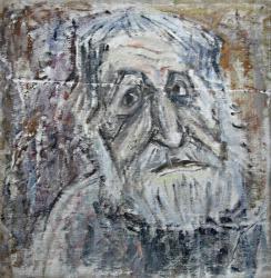 Портрет художника в Тарусе. Холст, масло. 50х50 см. 1986