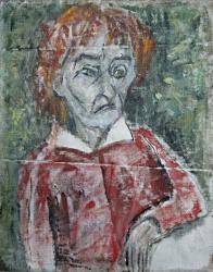 Портрет художницы в Тарусе. Холст, масло. 47х57 см. 1986