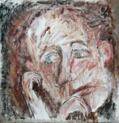Портрет художника в Тарусе. Холст, масло. 56х56 см. 1986