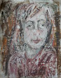 Портрет художницы в Тарусе. Холст, масло. 57х46 см. 1986