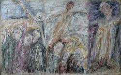 Триптих «Распятие». Холст, масло. 67х108 см. 1986