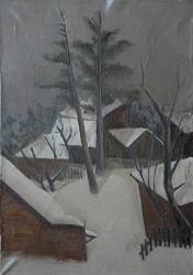 Челюскинская. Холст, масло. 70х50 см. 1978