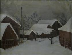 Пейзаж в Челюскинской. Картон, масло. 50х70 см. 1978