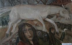 Автопортрет в Переславле. Картон, масло. 70х50 см. 1983
