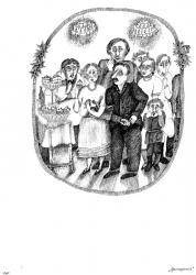 М.Зощенко «Аристократка», бум., тушь, перо, 32х22, 1984
