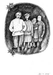 М.Зощенко «Брак по расчету», бум., тушь, перо, 32х22, 1984